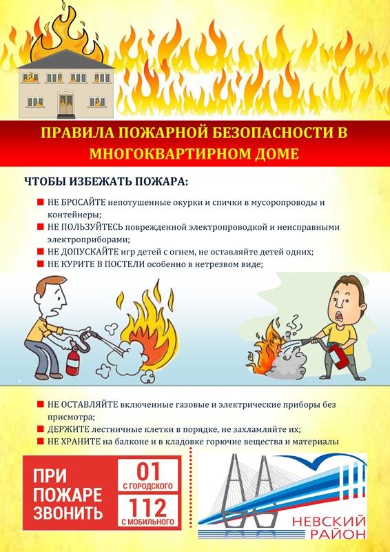 Правила пожарной безопасности в многоквартирном доме
