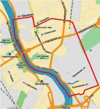 Карта-схема МО Санкт-Петербурга МО Народный